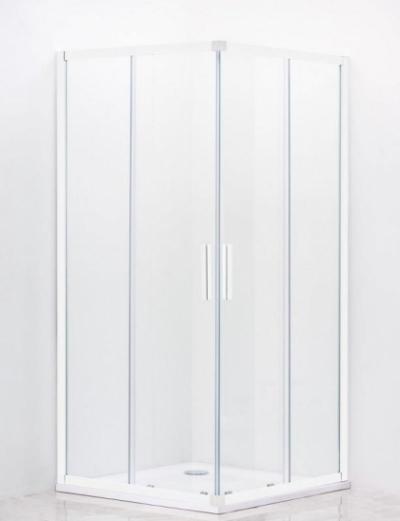 Душевой уголок Cezares Relax RELAX-A-2-80-C/P-Bi, 80 х 80 см, стекло прозрачное/рифлёное, цвет профиля белый