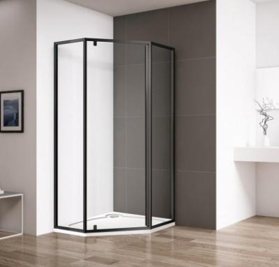 Душевой уголок Cezares ECO-O-P-1-90-C-NERO, 90 х 90 х 195 см, стекло прозрачное, цвет профиля черный