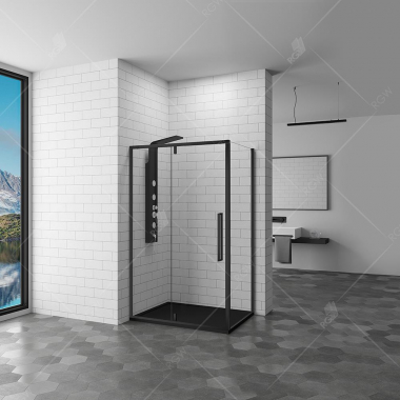 Душевой уголок RGW SV-44-B 06324498-14 90 х 80 см, стекло прозрачное, черный