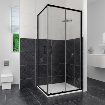 Душевой уголок RGW CL-34 В 32093488-14 80 х 80 см, дверь раздвижная, стекло прозрачное, черный