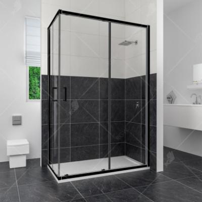 Душевой уголок RGW CL-44 В 32094480-14 80 х 100 см, дверь раздвижная, стекло прозрачное, черный
