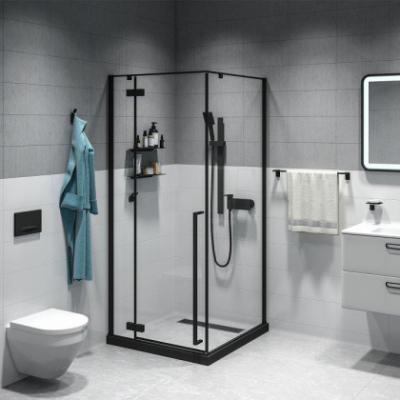 Душевое ограждение Iddis Slide SLI6BS0i23 90 х 90 см квадратный, стекло прозрачное, черный матовый