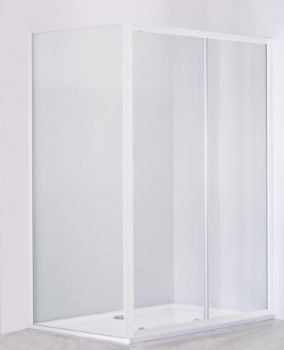 Душевой уголок Cezares Relax RELAX-AHF-1-120/90-P-Bi, 120 х 90 см, стекло рифлёное, цвет профиля белый