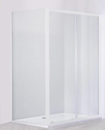Душевой уголок Cezares Relax RELAX-AHF-1-130/80-P-Bi, 130 х 80 см, стекло рифлёное, цвет профиля белый