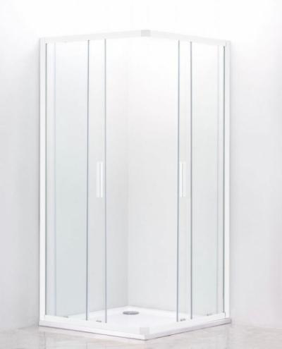 Душевой уголок Cezares Relax RELAX-AH-2-100/80-P-Bi, 100 х 80 см, стекло рифлёное, цвет профиля белый