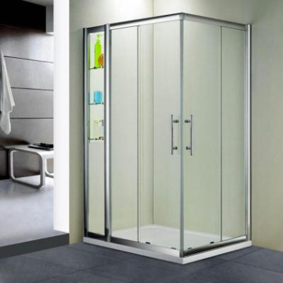 Душевой уголок RGW HO-43, 03064381-11, 80 х 110 x 195 см, дверь раздвижная, стекло прозрачное, хром