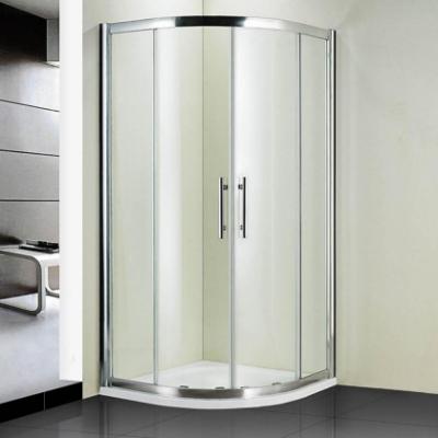 Душевой уголок RGW HO-51, 03065100-11, 100 х 100 x 195 см, четверть круга, дверь раздвижная, стекло прозрачное, хром