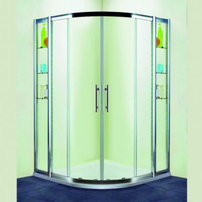Душевой уголок RGW HO-512, 030651211-11, 110 х 110 x 195 см, четверть круга, дверь раздвижная, стекло прозрачное, хром