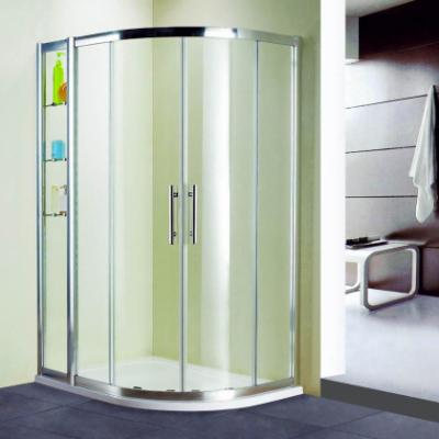 Душевой уголок RGW HO-62, 03066213-11, 100 х 130 x 195 см, асимметричный, дверь раздвижная, стекло прозрачное, хром
