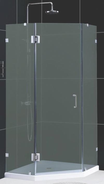 Душевой уголок RGW HO-82, 01068299-21, 90 х 90 x 195 см, трапеция, дверь распашная, стекло матовое, хром