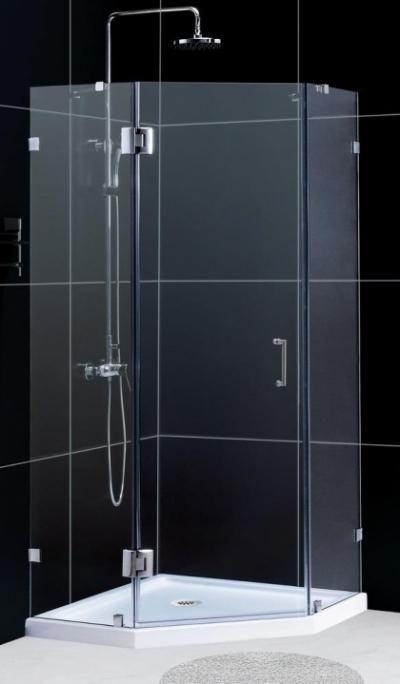 Душевой уголок RGW HO-82, 01068200-11, 100 х 100 x 195 см, трапеция, дверь распашная, стекло прозрачное, хром