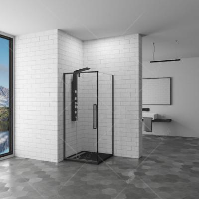 Душевой уголок RGW SV-34-B, 06323499-14, 90 х 90 см квадратный, стекло прозрачное, черный