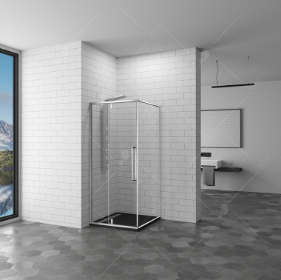 Душевой уголок RGW SV-34, 06323400-11, 100 х 100 см квадратный, стекло прозрачное, хром