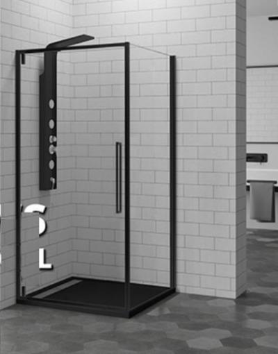 Душевой уголок RGW SV-34-B, 06323400-14, 100 х 100 см квадратный, стекло прозрачное, черный