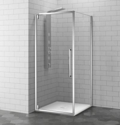 Душевой уголок RGW SV-43, 06324309-11, 100 х 90 см прямоугольный, стекло прозрачное, хром