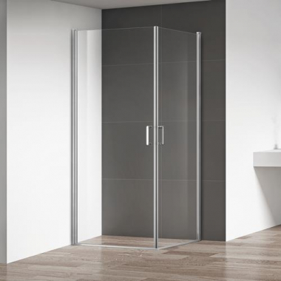 Душевой уголок RGW LE-30, 06123000-11, 100 х 100 x 195 см, дверь распашная, стекло прозрачное, хром