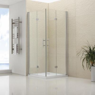 Душевой уголок RGW LE-36, 06123699-11, 90 х 90 x 195 см, дверь распашная-складная, стекло прозрачное, хром