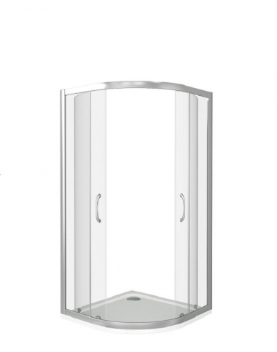 Душевой уголок Good Door Neo R-90-С-CH 90 х 90 х 185 см, НЕ00009, стекло прозрачное, профиль хром