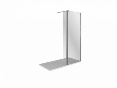 Душевое ограждение Good Door Walk In SP2-80-C-CH, 80 х 195 см, ВИ00003, стекло прозрачное, хром