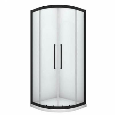 Душевой уголок Black&White Stellar Wind S801, 100 x 100 см, профиль черный матовый