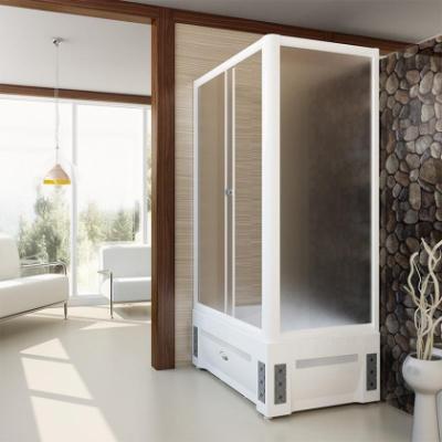 Душевой уголок Радомир Верчелли, высокий поддон 120 х 80 х 227 см, стекло матовое