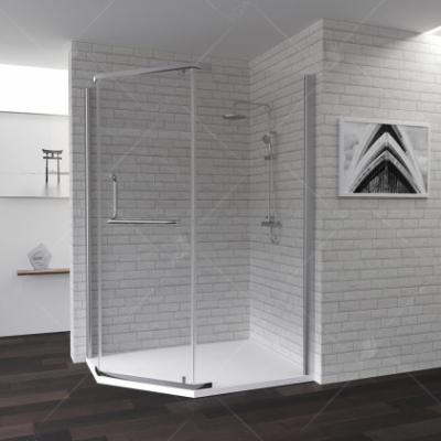 Душевой уголок RGW PA-91, 01089190-11, 90 х 100 x 195 см трапеция, дверь распашная, стекло прозрачное, хром