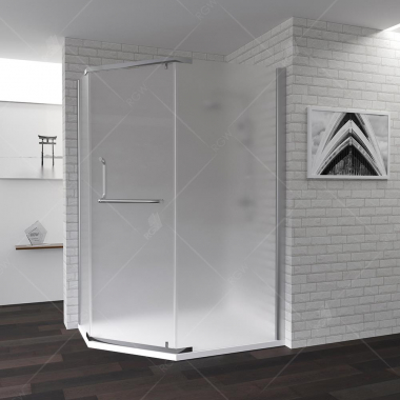 Душевой уголок RGW PA-91, 01089190-21, 90 х 100 x 195 см трапеция, дверь распашная, стекло матовое, хром