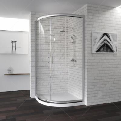 Душевой уголок RGW PA-51, 02085188-11, 80 х 80 x 190 см четверть круга, дверь раздвижная, стекло прозрачное, хром