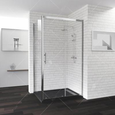 Душевой уголок RGW PA-145, 020814592-11, 120 x 90 см, дверь раздвижная, стекло прозрачное, профиль хром