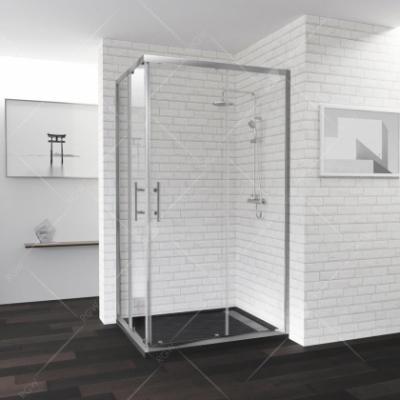 Душевой уголок RGW PA-146, 020814692-11, 90 х 120 x 185 см, дверь раздвижная, стекло прозрачное, хром