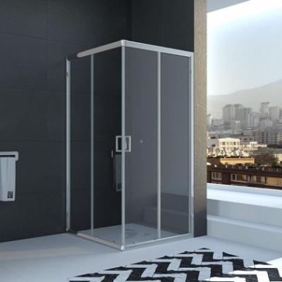 Душевой уголок Veconi Rovigo RV-11, 90 x 90 см, профиль хром, стекла прозрачные