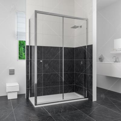 Душевой уголок RGW CL-45, 04094539-11, 130 х 90 x 185 см, дверь раздвижная, стекло прозрачное, хром