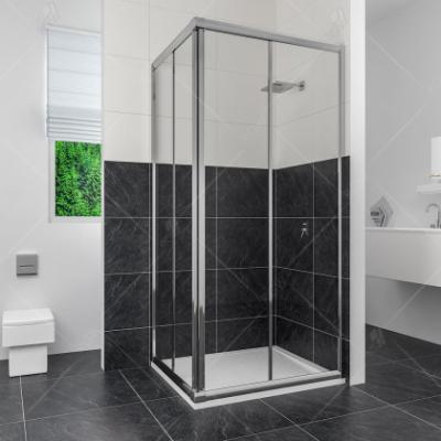 Душевой уголок RGW CL-32, 04093299-11, 90 x 90 х 185 см, дверь раздвижная, стекло прозрачное, хром