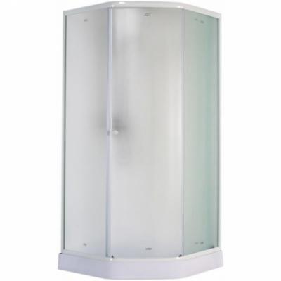 Душевой уголок Parly ZEP91F 90 х 90 см пятиугольный, стекло матовое, профиль белый