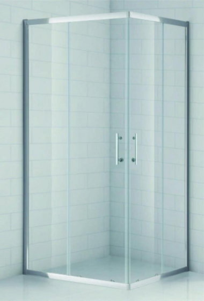 Душевой уголок Cezares Eco-O-AH-2-100/90-C-Cr, 100 x 90 x 190 см, стекло прозрачное, хром