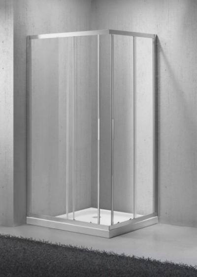 Душевой уголок BelBagno Sela-AH-2-100/90-C-Cr, 100 x 90 x 190 см, стекло прозрачное, хром