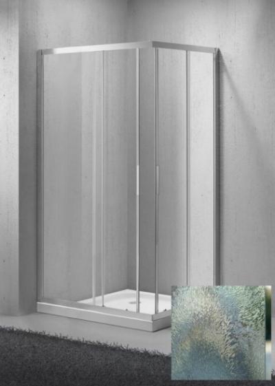 Душевой уголок BelBagno Sela-AH-2-100/90-Ch-Cr, 100 x 90 x 190 см, стекло шиншилла, хром