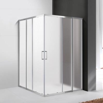 Душевой уголок Cezares Molveno-A-22-80+30-P-Cr, 110 x 110 x 190 см, стекло текстурное Punto, хром