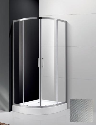 Душевой уголок Cezares Molveno-R-2-80-P-Cr, 80 x 80 x 190 см, стекло текстурное Punto, хром