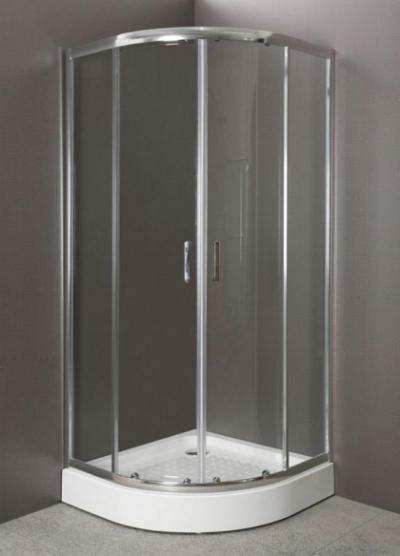 Душевой уголок BelBagno Uno-195, UNO-195-R-2-90-C-Cr, 90 х 90 х 195 см, профиль хром, стекло прозрачное