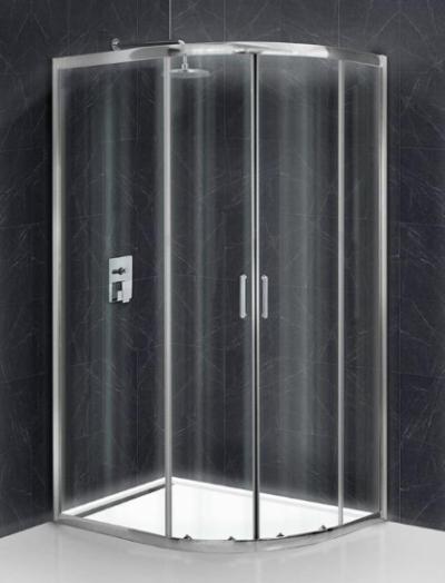 Душевой уголок BelBagno Uno-195, UNO-195-RH-2-120/80-C-Cr, 120 х 80 х 195 см, профиль хром, стекло прозрачное