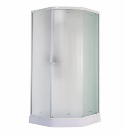 Душевой уголок Parly ZEP91F 90 х 90 см дверь распашная, стекло матовое, трапеция, белый