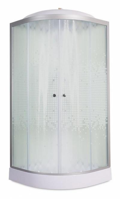 Душевая кабина Deto L 909  с электрикой 90 x 90 см, с крышей