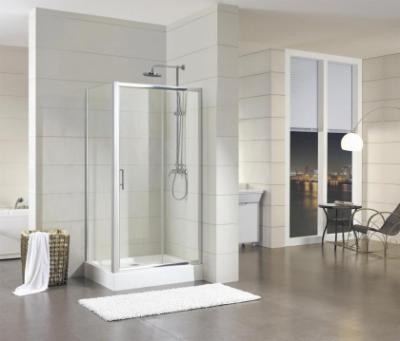 Душевой уголок Bravat Drop BS120.3100A, 120 x 80 x 200 см, двери раздвижные, стекло прозрачное, хром