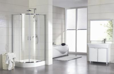 Душевой уголок Bravat Drop BS100.1200A, 100 x 100 x 200 см, двери раздвижные, стекло прозрачное, хром