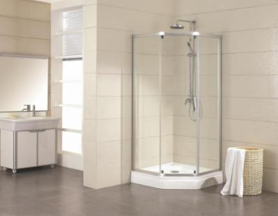Душевой уголок Bravat Line BS090.6115A, 90 x 90 x 200 см, дверь раздвижная, стекло прозрачное, хром