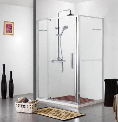 Душевой уголок Bravat Line BS090.2116A, 90 x 90 x 200 см, дверь распашная, стекло прозрачное, хром