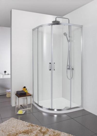 Душевой уголок Bravat Line BS090.1201A, 90 x 90 x 200 см, двери раздвижные, стекло прозрачное, хром
