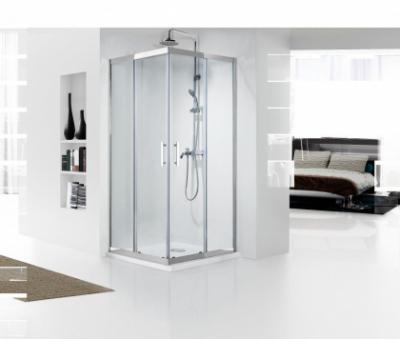 Душевой уголок Bravat Stream BS090.2204S, 90 x 90 x 200 см, двери раздвижные, стекло прозрачное, хром