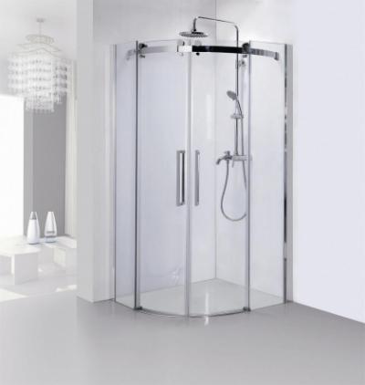 Душевой уголок Bravat Wave BS090.1202S, 90 x 90 x 200 см, двери раздвижные, стекло прозрачное, хром